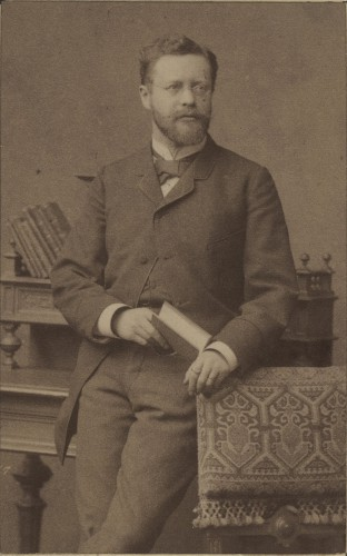 Portrait de Georg Dehio, 1892 (Phot. et coll. BNU Strasbourg)