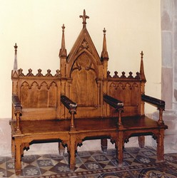 Banc pastoral, par CHarles Winkler et Muller vers 1875. Auteur : Marie-Philippe Scheurer, 1999 (Région Alsace, Service de l'inventaire du patrimoine)