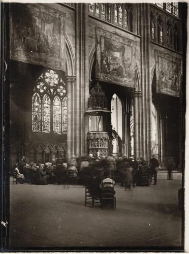 Congrès de la Société française d'archéologie dans la cathédrale de Strasbourg. S.n., 1920 (Denkmalarchiv, DRAC Alsace)