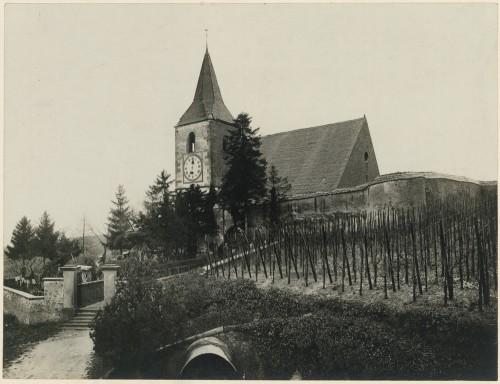 Église et cimetière fortifié à Hunawihr. S.n., 1912 (Denkmalarchiv, DRAC Alsace)