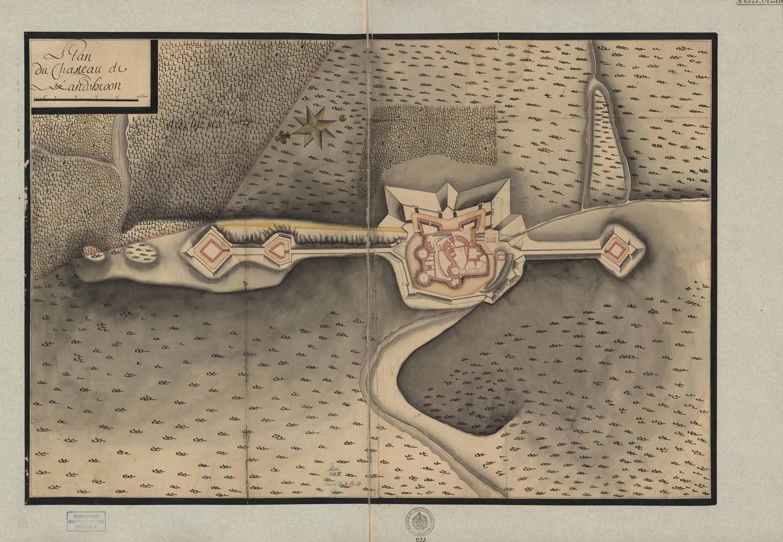 Landskron, 18e siècle, DAR 933 (fonds Denkmalarchiv © DRAC Alsace)