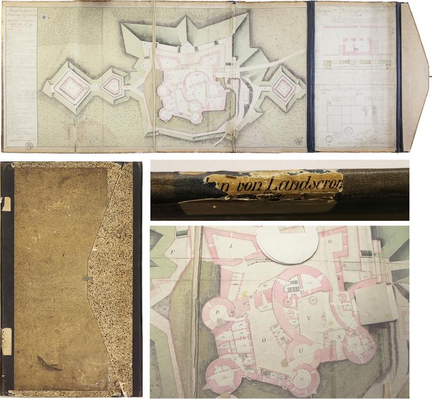 Plan du Landskron, 1764, DAR 930 (fonds Denkmalarchiv © DRAC Alsace)