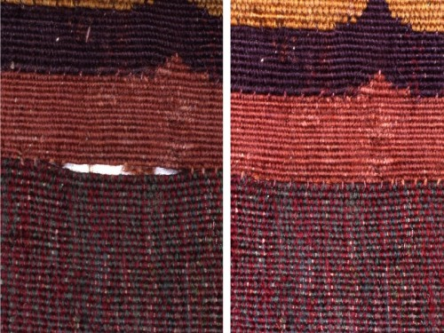 Couture des relais brisés (Manufacture royale de tapisseries De Wit)