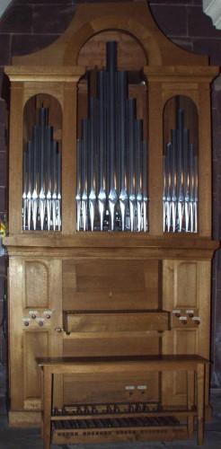L'orgue de la crypte. Cliché : Olivier Munsch (DRAC Alsace)