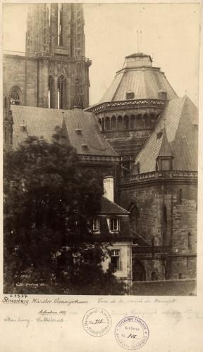Tour de croisée de la cathédrale en 1851. Cliché : H. Lesecq (Denkmalarchiv, DRAC Alsace)