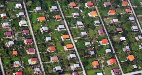 Jardins communautaires (ouvriers) typiques de l'Allemagne