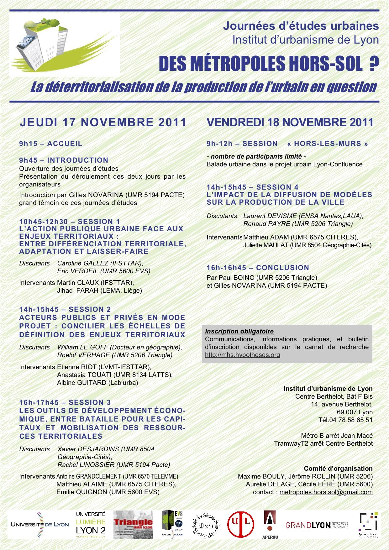 L'affiche du programme