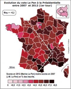 Le vote Marine Le Pen en avril 2012: quelle progression ? (par Bernard Alidières, mai 2012)