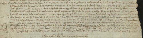 Apprentissage de boucher mentionnant exceptionnellement une institution de métier en 1380