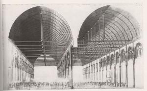 Gravure de la Grand'Salle du Palais du Parlement, à Paris