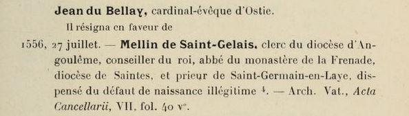 Acte du 27 juillet 1556. Source : archive.org