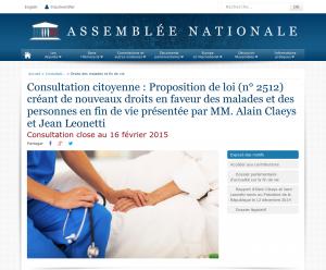 Page de la consultation, le 17 février 2015
