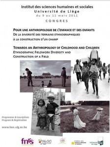 Pour une anthropologie de l'enfance et des enfants – Liège 9-11 mars 2011