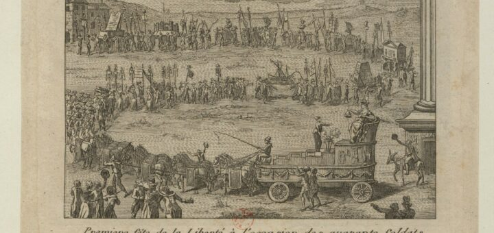 Une fête révolutionnaire à Brest en 1792.