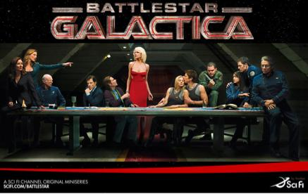 Affiche de promotion de la Saison 4 de Battlestar Galactica