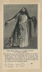 "Anna Jones, ""Femme à Barbe"" du cirque Barnum"