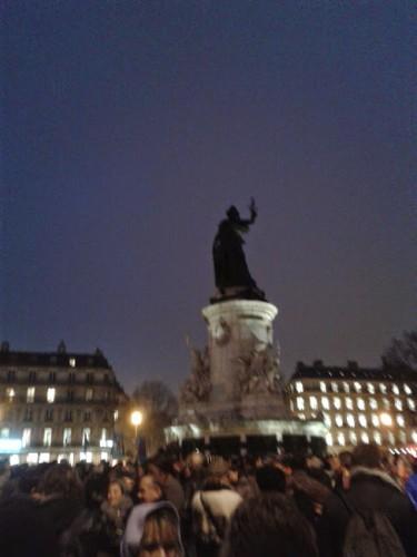 Mercredi 7 janvier 2015, Place de la République, Paris