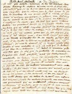Lettre de Mme de Disse (première page)