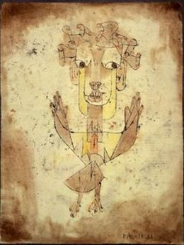 """Angelus Novus"" Paul Klee,1920 . Source : Wikimedia Commons"
