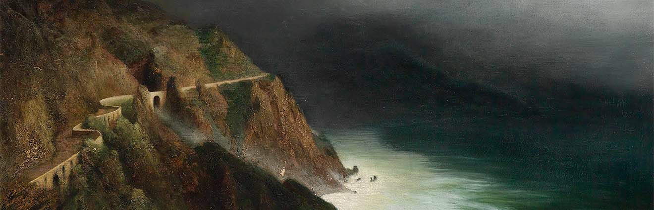 Diefenbach, Coastal Road near Sorrento-Amalfi, 1911