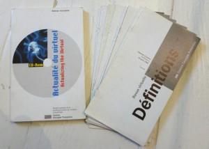 9 numéros de la revue virtuelle (édition papier), 1992-1994, cd rom Actualité du Virtuel, 1997, éditions du Musée national d'art moderne, Centre Georges Pompidou. Courtesy centre Georges Pompidou.