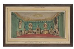 Projet pour les appartements de réception du duc de Nemours aux Tuileries Eugène Lami (1800-1890) France, [vers 1844] Crayon et aquarelle Don David-Weill, 1936 Inv. 32458.A © Les Arts Décoratifs