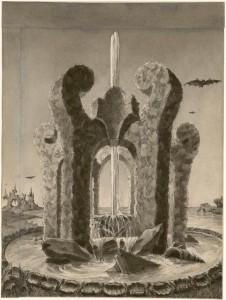 Jet d'eau et construction de feuillages Emilio Terry y Sanchez (1890-1969) France, XXe siècle Plume, encre de Chine et lavis Legs Terry y Sanchez, 1972 Inv. 47773.79 © Les Arts Décoratifs
