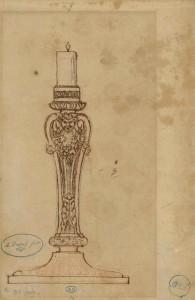 Flambeau Augustin Dupré (1748-1833) France, ca. [1770-1833] Sanguine, pierre noire, plume et encre sur papier vergé écru Achat du musée, vente La Béraudière, 1885 Inv. 1009.B © Les Arts Décoratifs