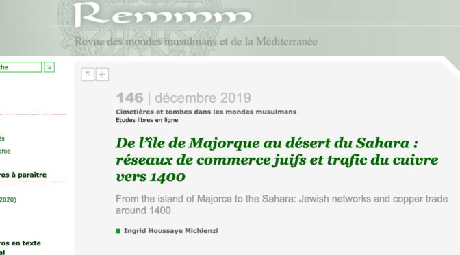 De l'île de Majorque au désert du Sahara : réseaux de commerce juifs et trafic du cuivre vers 1400