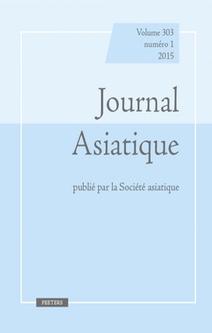Journal Asiatique, Vol. 308, n° 2