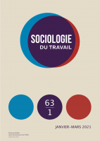 Sociologie du travail, Vol. 63, n° 1
