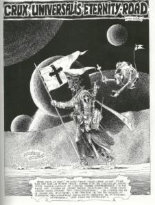 """L'anachronisme comme procédé narratif dans """"Crux Universalis Eternity Road"""" (1977) : transposer le présent dans le futur (ou le passé...)"""