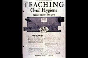 Publicité pour Colgates' Ribbon Dental Cream, destinée aux enfants, 1911. Source : http://www.colgate.com.sg/app/Colgate/SG/Corp/History/1901.cvsp