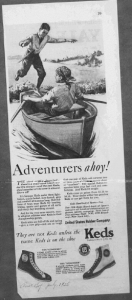 "Fig.6. ""Adventurers ahoy!' Publicité pour Keds' shoes, American boy, juillet 1926, p.39. Source : J. Walter Thompson Company. 35mm Microfilm Proofs, 1906-1960 and undated. Reel 38."