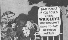"""Fig.2e.""""Everyday Adventures with Elmer"""" (détail). Publicité pour Hathaway sous forme de comics (détail). Source inconnue, non datée, vers 1931. Source : J. Walter Thompson Company. 35mm Microfilm Proofs, 1906-1960 and undated. Reel 40."""