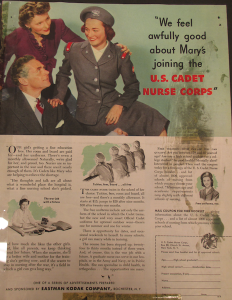 "Fig. - ""We feel awfully good about Mary's joining the US Cadet Nurse Corps"""