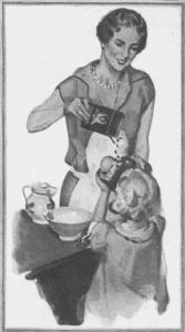 Fig.46a. Publicité pour Sun-Maid Puffed et Sun-Maid Nectars (détail). Laides' Home Journal. Décembre 1927. Source : J. Walter Thompson Company. 35mm Microfilm Proofs, 1906-1960 and undated. Reel 36.