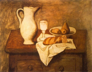 Fig.44. Pablo Picasso, Nature morte avec pichet et pain, 1921.