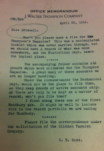 Fig. - Correspondence relating to newsletters, 1910-1976 and undated