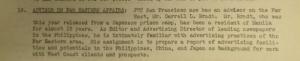 "Fig.18 - ""Advisor on Far Eastern Affair"". The J. Walter Thompson Bulletin. 14 septembre 1945, p.2. Source : J. Walter Thompson Company. Newsletter Collection, 1910-2005. Box MN9 (1945-1950)."