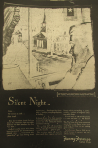 "Fig.33. ""Silent Night"" - Fanny Farmer Candy Shops. New York Times, 7 juin 1945. Source : Source : J. Walter Thompson Company. World War II Advertising collection, 1940-1948 and undated. Box 2 (Oversize) ""War Bond Advertisements, 1942-1945 and n.d"""