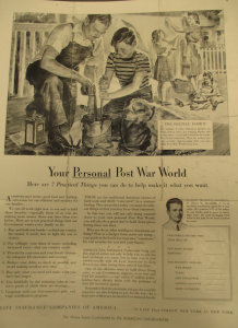 "Fig.36. ""Your Personal Post War World"" – Life Insurance Companies of America. Source : J. Walter Thompson Company. World War II Advertising collection, 1940-1948 and undated. Box 2 (Oversize) ""War Bond Advertisements, 1942-1945 and n.d"""