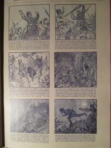 """Fig.1. """"L'enlèvement du bois sabot"""". La Grande Guerre en Bande dessinée. Beaux-Arts Magazine, 2014, p.12"""
