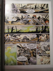 Fig.3. Castex, Battaglia, L'Histoire de France en bande dessinée, La Grande Guerre, 1978 (extrait). La Grande Guerre en Bande dessinée. Beaux-Arts Magazine, 2014, p.51