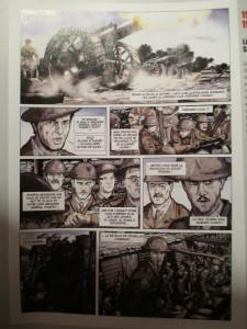 Fig.5a. Antoni, Ormière, Le Temps du rêve, Fromelles, 2013 (extrait). La Grande Guerre en Bande dessinée. Beaux-Arts Magazine, 2014, p.56.
