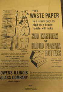 "Fig.78 - ""Your waste paper"". November 1945. Source : ""Civilian Clients' Advertising, Other Than War Bonds, 1941-1945″. Source : J. Walter Thompson Company. World War II Advertising collection, 1940-1948 and undated. Box 1 – War Campaigns 1940-1948."