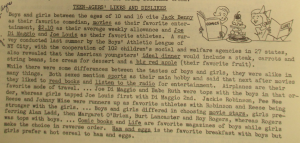 "Fig. 126 - ""Teen-Agers' Likes and Dislikes"". The J.W.T News. 7 mars 1949, Vol.IV no10, p.4. Source : J. Walter Thompson Company. Newsletter collection, 1910-2005. Box MN9 (1945-1950)."
