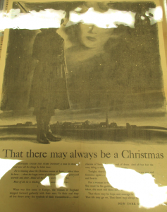 "Fig. 151 - ""That there may always be a Christmas"". Campagne sponsorisée par the New York Dress Institute. The Chicago Sun. Mardi 30 décembre 1941, p.16.Source : J. Walter Thompson Company. World War II Advertising collection, 1940-1948 and undated. ""Oversize Proofs and Tear Sheets of Advertisements, 1941-1945 and undated""."