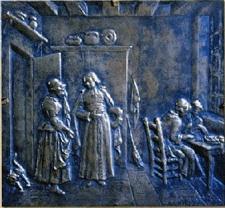 Plaque de la Rencontre, Statue de l'abbé de l'Epée, cour d'honneur à l'INJS de Paris