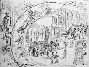 En 1893, de Paris vers Versailles, lors de la fête en honneur de l'abbé de l'Epée (Journal des Sourds-Muets, novembre 1893)